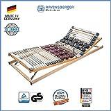 Ravensberger Matratzen Duomed Lattenrost | 7-Zonen-Buche-Teller-Lattenrahmen | Teller und Leisten| verstellbar| MADE IN GERMANY - 10 JAHRE GARANTIE | TÜV/GS 90x200 cm