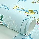 GAOLILI Landschaft Papier Tapeten Pastoral Vliesstoffe Gelbe Blumen Vögel Schlafzimmer Wohnzimmer TV Hintergrund Tapeten Blumen und Bäume Eine große Fläche voller natürlicher Umweltschutz ( Farbe : A )