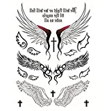 Beito Temporary Tattoos Aufkleber Engels-Entwurf Flügel Kreuz Sexy Produkte für Frauen Hippy-Tattoos Sticker 1 Pc