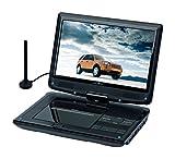 Reflexion DVD1017 Tragbarer 25,4 cm (10 Zoll) DVD-Player mit DVB-T2 HD Tuner, Fernbedienung, 12V Adapter, HDMI, USB, 230V Netzteil schwarz