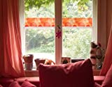 Fenster Wandbild Bordüre HavannaLounge Fenster Aufkleber Fensterfolie Fenster Tattoo Glas Aufkleber Fenster Kunst Fenster Décor Fenster Dekoration, Maße: 15cm x 144cm
