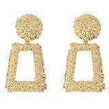 Frauen Big Geometrische Ohrringe Paar, Frauen Big 1Paar Ohrringe, geometrische quadratisch Ohrringe, quadratisch Ohrring Bunte
