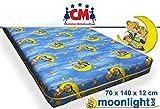 Babymatratze Kindermatratze 70x140 x12 cm. Atmungsaktive Qualitäts-Matratze aus Hochwertigem Schaumstoff. Kinderbettmatratze Bunt, Reisebettmatratze, Schaumstoffmatratze Markenware Neu Bei Amazon