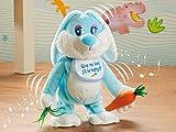 Süsser singender und tanzender Hase mit Stoff-Karotte
