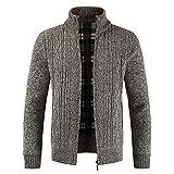 99211a57cc0f45 Riou Herren Strickjacke Cardigan Open Jacke Knit Beiläufige Dünne Mantel  Sweatshirt Sweatblazer Männer Winter Zipper Outwear