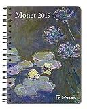 Monet 2019 - Buchkalender, Taschenkalender, Pocket Diary, Kunstkalender 2019 - 16,5 x 21,6 cm