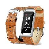 TPulling Mode Y2 Armband Blutdruck-Test, Herzfrequenz-Test Intelligente Armbanduhr Farbe Bildschirm Blutdruck/Herzfrequenz Bluetooth Smart Armband Sportuhr (Braun)