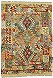 Nain Trading Kelim Afghan 155x107 Orientteppich Teppich Rost/Rosa Handgewebt Afghanistan