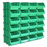 24 Profi Lager-Sichtboxen PP Größe 2 in Farbe Grün