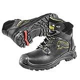Puma Safety Shoes Borneo Black Mid S3 HRO SRC, Puma 630411-202 Unisex-Erwachsene Sicherheitsschuhe, Schwarz (schwarz/gelb 202), EU 46