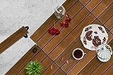 Premium Gumi Wood Decking Terrassendielen, Bodenbelag, Garten, Balkon, Thermoesche, Stecksystem mit Unterkonstruktion