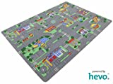 Auto Teppich HEVO Kinder Strassen Spielteppich | Kinderteppich 145x200 cm