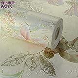 grüne retro - stil, handbemalte blüten und vogel aus tapete 3d dreidimensionale wohn - und schlafzimmer studie hintergrund tapete,Beige 66173,Wallpaper only,