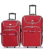 Trolley-Koffer-SET - 2-teilig - XXL-Volumen - 66+56cm, Dehnfalte - Rot