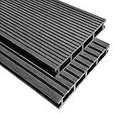 XINGLIEU Baustoffe WPC Terrassendielen mit Zubehör 30 m2 2,2 m grau Terrassendielen mit unterschiedlichen Mustern auf jeder Seite