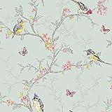 Holden Decor 98083 Papier Tapete Kollektion Enchanted Garden, 10,05 m x 0,53 m