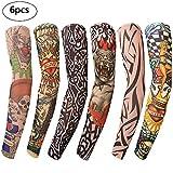 Benbilry 6 Stück Tattoo Ärmel Unisex Nylon Temporäre Tattoos Arm Tätowierung Armstrümpfe Tattoo Strumpf Arm