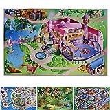 Floori Spielmatte Im Märchen | Prinzessinnen Schloss | Phthalat-frei | erweiterbar zu Einer riesigen Spiellandschaft | 100 x 150 cm