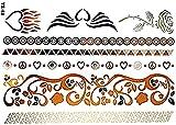 Ys-68 - Fake Tattoo - Arme - Knöchel - Handgelenk - Bein - Bein - Schulter - Rücken - Engelsflügel - Herz - Flammen - Pink - Blumen - Frieden - Frau