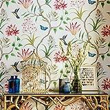 SLGJYY Rustikale Tapetenrolle Vintage Floral Vlies 3D Schmetterling Tapeten Schlafzimmer Wallpapers Vögel, Wandtattoo 3D Beige