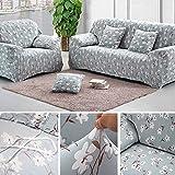 2 Sizter Sofabezug Sesselbezug Sofahussen Sofaabdeckung mit anti-slip strips Elastisch Verfügbar Blumen-Muster