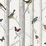 Holden Decor 12231 Papier Tapete Kollektion Enchanted Garden, 10,05 m x 0,53 m