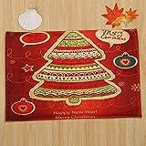 Junjie Modern Frohe Weihnachten Willkommen Fußmatten Indoor Home Korallen SAMT Teppiche Tisch Schlafzimmer Küche Bett Autositz Sofakissen Decor 40x60CM