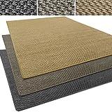 Sisal Läufer / Teppich Tiger-Eye | Sisalteppich in verschiedenen Farben | Naturfaser | Rutschfest | viele Größen zur Auswahl (Anthrazit, Teppich / Läufer 200x300cm (BxL))