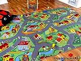 Kinder Spiel Teppich Little Village Grün in 24 Größen