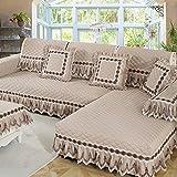 M&XGF Schnittsofa Werfen Abdeckung Pad Baumwolle und leinen Sofa möbel Protector für Haustiere Kinder Anti-Rutsch Slipcovers -1 stück-L 90x240cm(35x94inch)