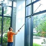 Home & Style Fensterreinigung Combo - Rakel & Mikrofaser Scheibenwaschanlage,Teleskopstange 1.2 meters, Größe: 35cm