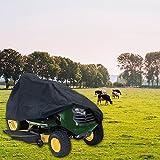 137,2cm Rasenmäher Bezug Traktor schwer Pflicht Wasserdicht Polyester Material 137,2cm Universal Fit Größe und UV-beständig Staubdicht UV Protector Durable Schutz Plane Tragetasche Outdoor Grillabdeckung, Terrasse Grill Ride Farm Garden
