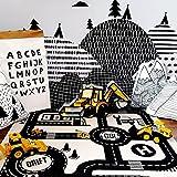 SJHO Baby Spielen Teppich Kinder Straße Spielmatte - [City Highway und Weltkarte],A
