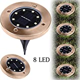 EARS 8LED Solar Power Buried Licht unter Boden Lampe Outdoor Path Way Garden Terrassendielen Dekoration Dekor Moderne Home Office Art Decor Living Room Sofa Bedroom (Weiß)