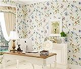 Tapete Vliestapete Amerikanische Große Vliestapete Pure Tapete gehobenen Villen und Vögel Muster Warm Schlafzimmer Wohnzimmer Tapete 10* 0,53(M) Hellkhaki