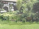 Teichzaun, Unterbogen- Set enthält 5x Zaunbögen und 6x Befestigungsstäbe