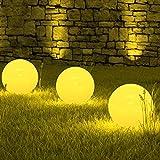 3 x LED Solarleuchte Marion im Set Kugelleuchte Kugellampe Dekoleuchte Gartenbeleuchtung