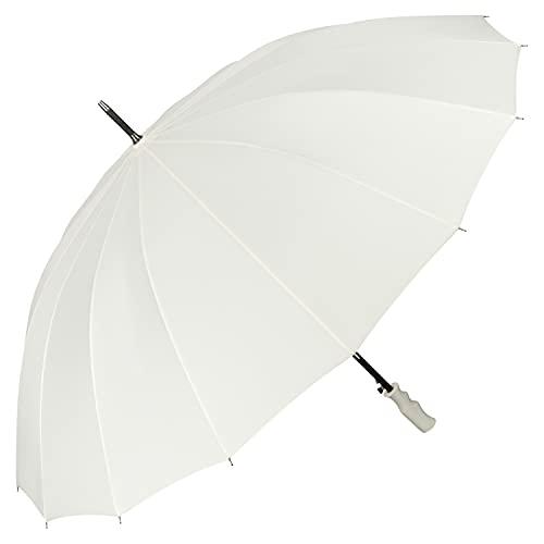 VON LILIENFELD Regenschirm XXL Durchmesser 120 cm Partnerschirm Auf-Automatik Hochzeitsschirm Sturmfest Stabil Cleo Creme