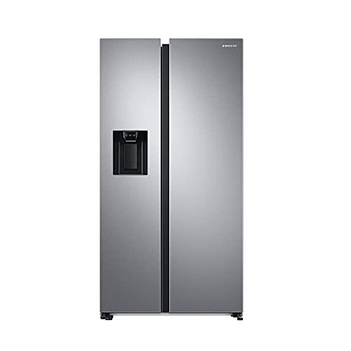 Samsung RS6GA8532SL/EG Side-by-Side Kühlschrank mit SpaceMaxTechnologie, 409 Liter Kühlschrankvolumen, 225 Liter Gefriervolumen, 281 kWh/Jahr, Premium Edelstahl Look