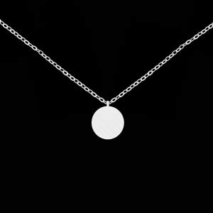 BLMDHW Mini Disc Coin Necklaces Pendants Lucky Charm Women Circle Karma Jewelry Gold Color Choker Friendship Necklace Gifts