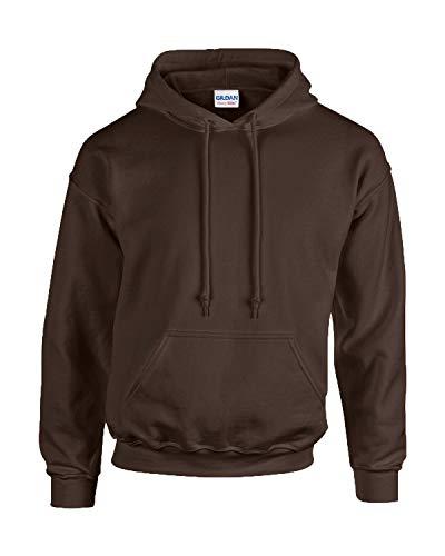 Gildan Herren Adult 50/50 Cotton/Poly. Hooded Sweat Sweatshirt, Gr. 2XL, DarkChocolate