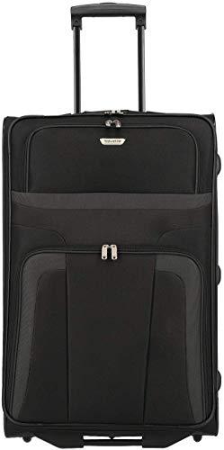 Travelite 2-Rad Koffer Größe L, Gepäck Serie ORLANDO: Klassischer Weichgepäck Trolley im zeitlosen Design, 098489-01, 73 cm, 80 Liter, schwarz