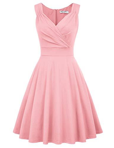 Partykleider rosa Petticoat Kleid ärmellos Festliche Kleider Standesamt Swing Kleid CL698-10 2XL