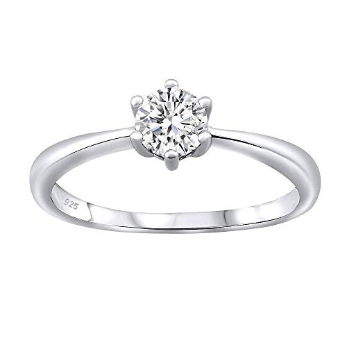 SILVEGO Verlobungsring aus 925 Sterling Silber SOPHIA mit Swarovski® Zirconia