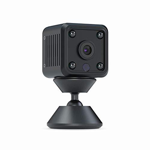 Mini Kamera,CACAGOO1080P Mini Überwachungskamera mit Bewegungsmelder und Speicher Aufzeichnung Mikro WiFi IP Kamera,Compact Sicherheit Kamera für Innen und Aussen