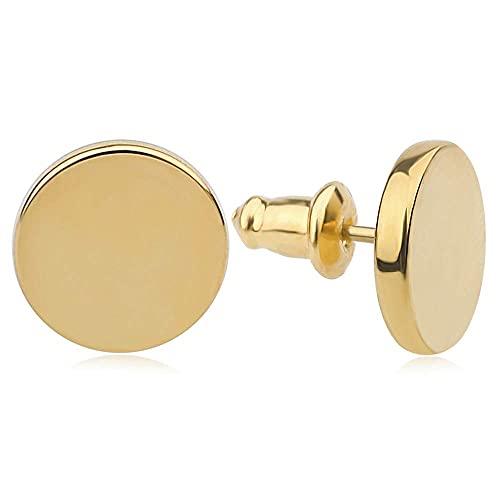 Good.Designs ® Ohrringe für Frauen   Damen Ohrstecker aus Edelstahl Gold Goldene Golden goldfarben Damenschmuck