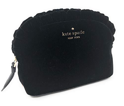 Kate Spade Marcy Dawn Place Black Velvet Mini Clutch Multi Use Bag