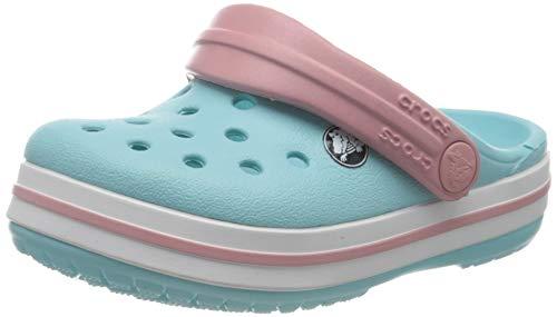crocs Unisex-Kinder Crocband K Clogs, Blau (Ice Blue/white), 23/24 EU