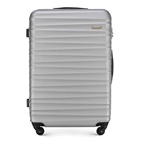 WITTCHEN Koffer – Großer   hartschalen, Material: ABS   hochwertiger und Stabiler   Grau   96 L   77x29x52 cm
