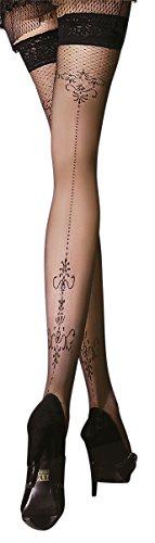 Unbekannt Ballerina Halterlose Strümpfe, schwarz, 20 DEN Größe Small/Medium